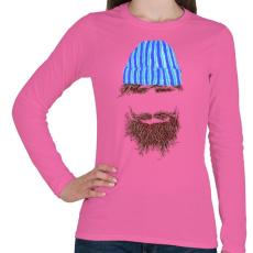 PRINTFASHION Hipszter - Női hosszú ujjú póló - Rózsaszín