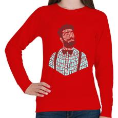 PRINTFASHION Hipszter - Női pulóver - Piros