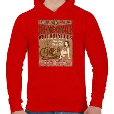 PRINTFASHION Hitehagyott  - Férfi kapucnis pulóver - Piros