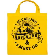 PRINTFASHION Hív a kaland - Vászontáska - Sárga