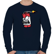 PRINTFASHION Hockey Dyna - Férfi pulóver - Sötétkék