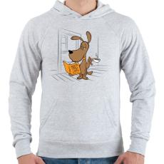 PRINTFASHION Hogyan trollkodj a macskákkal - Férfi kapucnis pulóver - Sport szürke