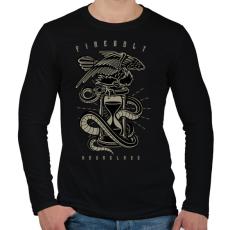 PRINTFASHION Homokóra - Férfi hosszú ujjú póló - Fekete