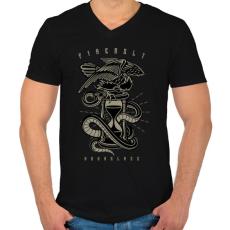 PRINTFASHION Homokóra - Férfi V-nyakú póló - Fekete