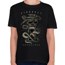 PRINTFASHION Homokóra - Gyerek póló - Fekete gyerek póló