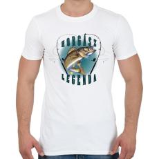 PRINTFASHION Horgászlegenda - Férfi póló - Fehér