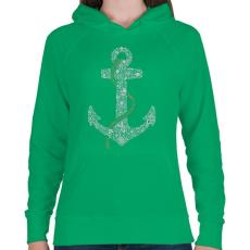 PRINTFASHION Horgony - Női kapucnis pulóver - Zöld