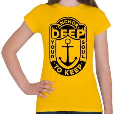 PRINTFASHION Horgonyzás  - Női póló - Sárga