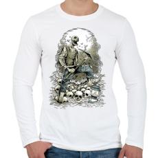 PRINTFASHION Horror bányász - Férfi hosszú ujjú póló - Fehér