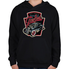PRINTFASHION HOT ROAD - Gyerek kapucnis pulóver - Fekete