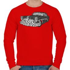 PRINTFASHION Hot rod - Férfi pulóver - Piros