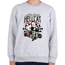 PRINTFASHION hot Rod Hellcat - Gyerek pulóver - Sport szürke