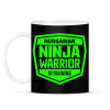 PRINTFASHION Hungarian Ninja Warrior - Bögre - Fekete