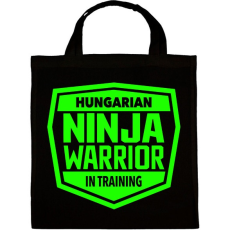 PRINTFASHION Hungarian Ninja Warrior - Vászontáska - Fekete