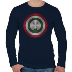 PRINTFASHION Hungarika kapitány - Férfi hosszú ujjú póló - Sötétkék