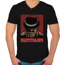 PRINTFASHION HUNTMAN - Férfi V-nyakú póló - Fekete