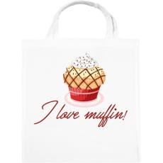 PRINTFASHION I love muffin - Vászontáska - Fehér