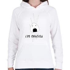 PRINTFASHION I'm Onigiri - Női kapucnis pulóver - Fehér
