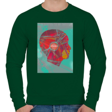 PRINTFASHION Ideg - Férfi pulóver - Sötétzöld