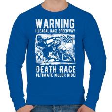 PRINTFASHION Illegális futam  - Férfi pulóver - Királykék