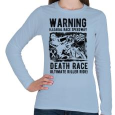 PRINTFASHION Illegális futam - Női hosszú ujjú póló - Világoskék