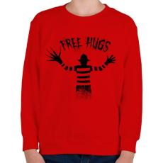 PRINTFASHION Ingyen ölelés - Gyerek pulóver - Piros
