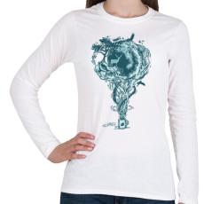 PRINTFASHION Inspiráció - Női hosszú ujjú póló - Fehér