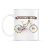 PRINTFASHION Irány biciklizni! - Bögre - Fehér