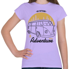 PRINTFASHION Irány egy új kaland - Női póló - Viola