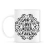 PRINTFASHION Isten szeretete nem múlik el - Bögre - Fehér