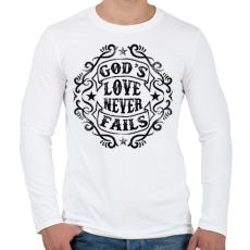 PRINTFASHION Isten szeretete nem múlik el - Férfi hosszú ujjú póló - Fehér