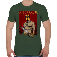 PRINTFASHION Istenek az arénában - Férfi póló - Katonazöld