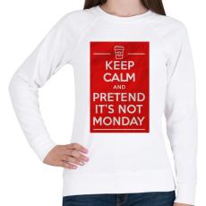 PRINTFASHION It's not monday - Női pulóver - Fehér