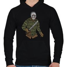 PRINTFASHION Jason - Férfi kapucnis pulóver - Fekete