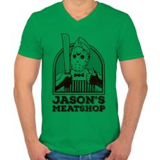 PRINTFASHION Jason húsboltja - Férfi V-nyakú póló - Zöld
