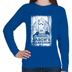 PRINTFASHION Jason húsboltja - Női pulóver - Királykék