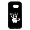PRINTFASHION Játékos kéz - Telefontok - Fekete hátlap