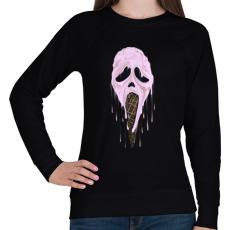 PRINTFASHION Jégsikoly - Női pulóver - Fekete