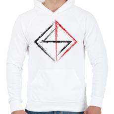 PRINTFASHION jel - Férfi kapucnis pulóver - Fehér