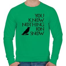 PRINTFASHION JON SNOW - Férfi pulóver - Zöld