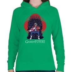PRINTFASHION Jövő játéka - Női kapucnis pulóver - Zöld