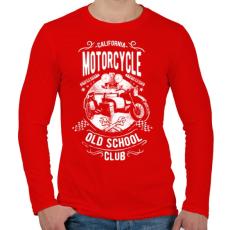 PRINTFASHION Kaliforniai öreg motorosok - Férfi hosszú ujjú póló - Piros