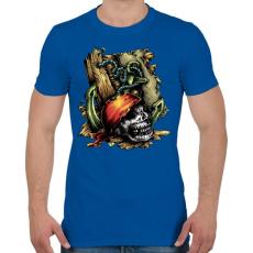 PRINTFASHION Kalóz - Férfi póló - Királykék
