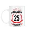 PRINTFASHION kamasz-25-black-red - Bögre - Fehér