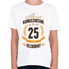 PRINTFASHION kamasz-25-brown-orange - Gyerek póló - Fehér