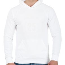 PRINTFASHION kamasz-25-white - Férfi kapucnis pulóver - Fehér
