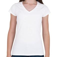 PRINTFASHION kamasz-25-white - Női V-nyakú póló - Fehér