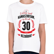 PRINTFASHION kamasz-30-black-red - Gyerek póló - Fehér
