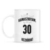 PRINTFASHION kamasz-30-black-white - Bögre - Fehér
