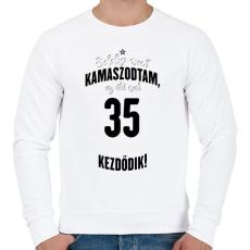 PRINTFASHION kamasz-35-black-white - Férfi pulóver - Fehér